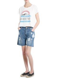 MANGO - PRENDAS - Partes de arriba - Camiseta estampada 16€