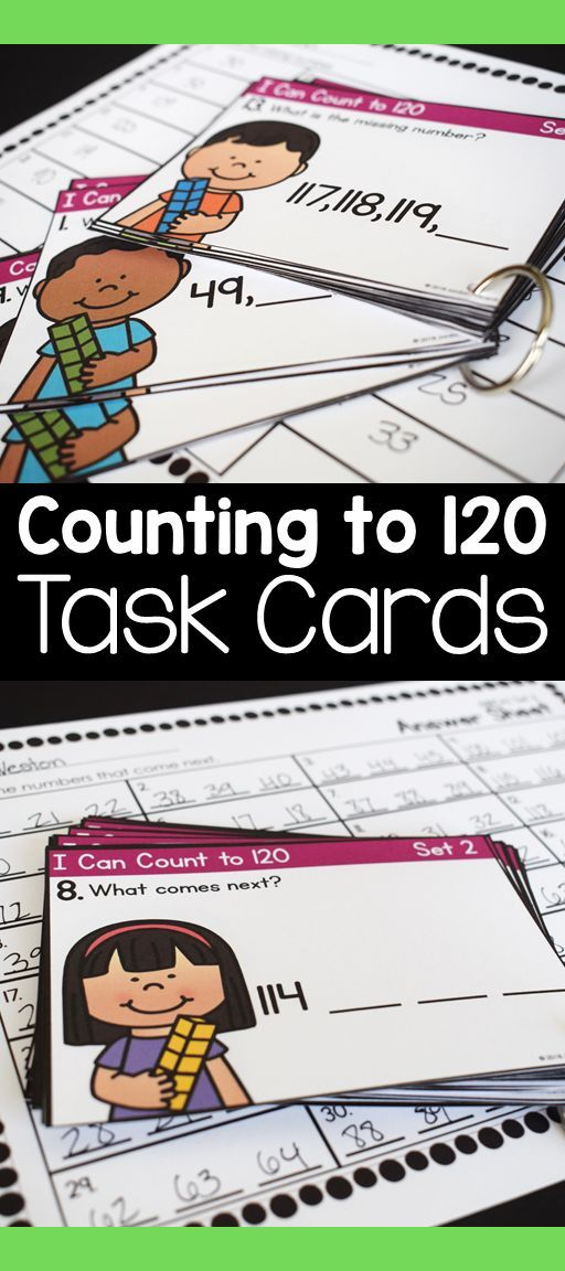 Extend the Counting Sequence to 120 Task Cards 1.NBT.A.1