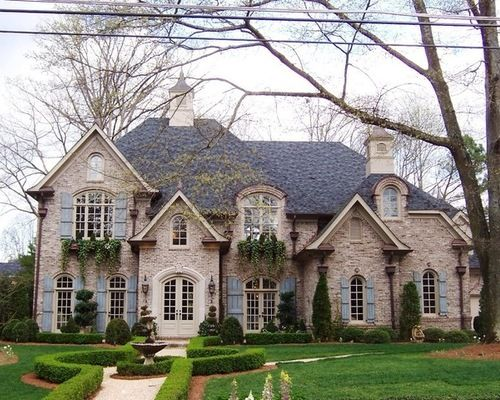 Stucco French Country Brick Home Design Ideas Pictures Remodel And Decor French Country House French Country Exterior House Exterior