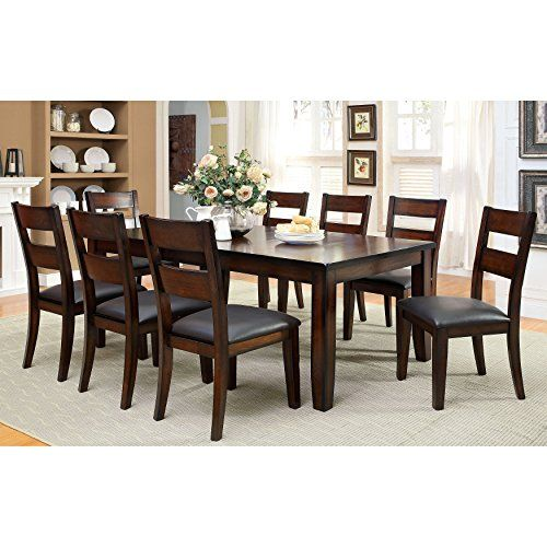 Furniture Of America Katrine Dark Cherry Dining Table  Interior Stunning Dark Cherry Dining Room Set Decorating Design