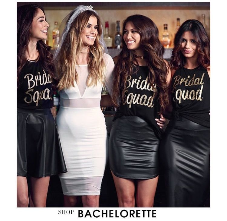 ebe953f187 Bachelorette party bride squad outfits | I said, yes. in 2019 ...