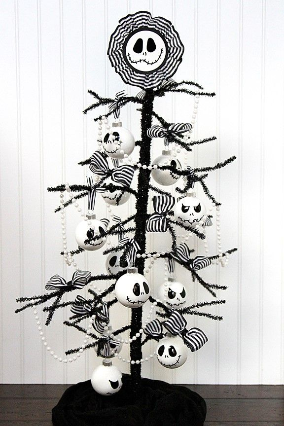 Diy Nightmare Before Christmas Tree With Images Nightmare