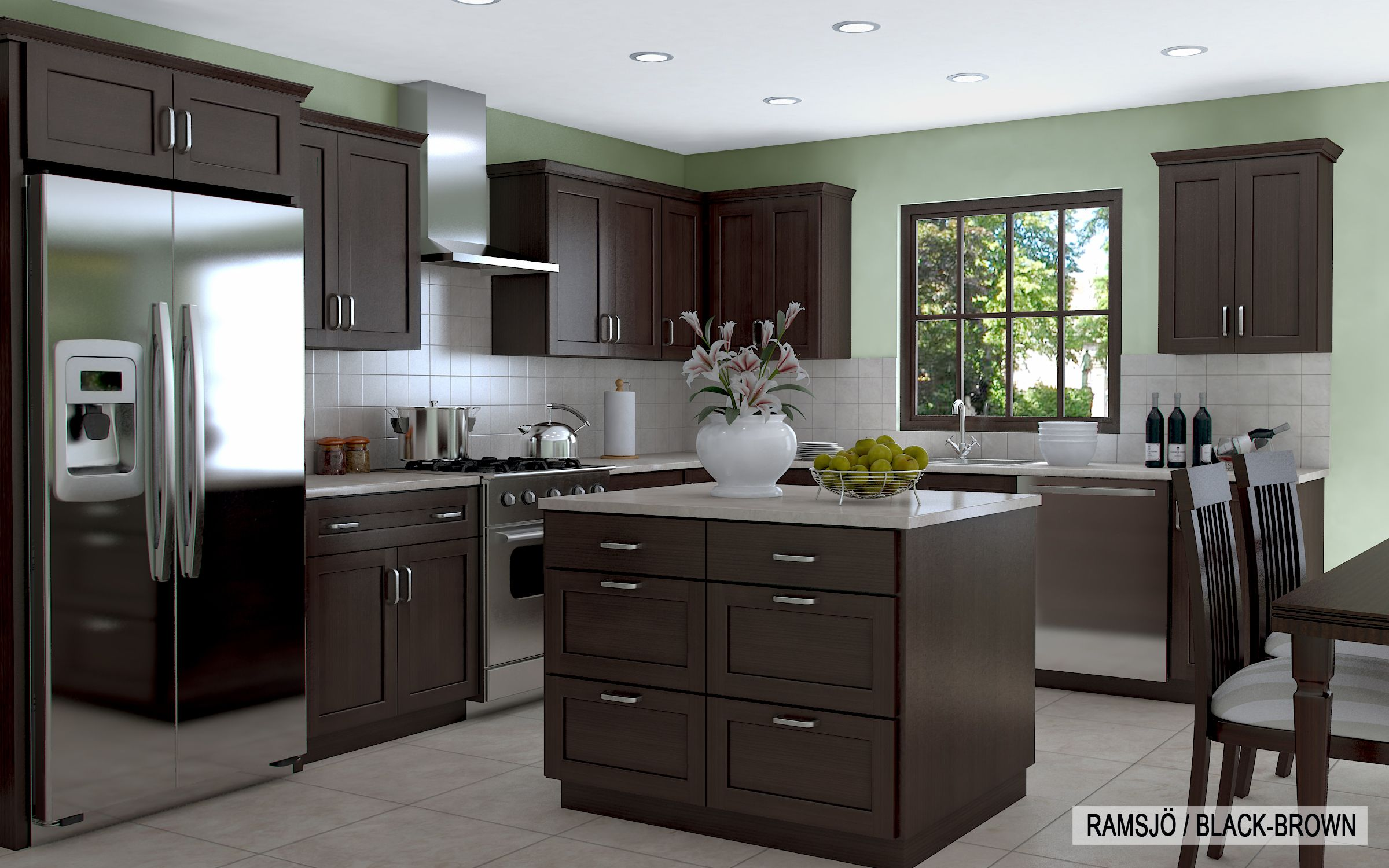 kitchen remodeling wonderful ikea kitchen with grey granite countertop and dark brown cabinets and drawers also - Ikea Black Kitchen Cabinets