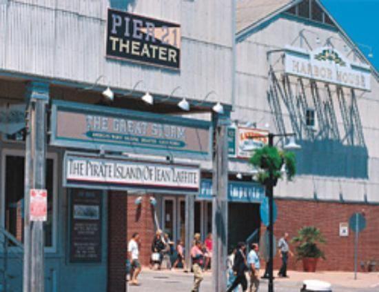 Pier 21 Theater Great History Film Hurricane Jean Lafitte Galveston Explore Texas Galveston Island
