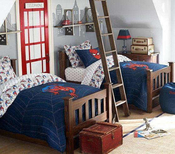Spider-Man™ Quilt | Pottery Barn Kids | John Bedroom | Pinterest ... : spiderman quilt - Adamdwight.com