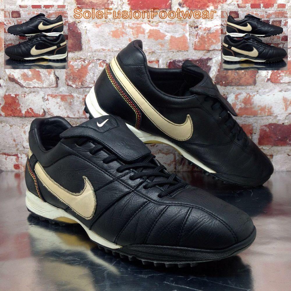 1ef5da829e Nike Tiempo Mens Ronaldinho Football Trainers Black sz 10.5 Turf Soccer US  11.5