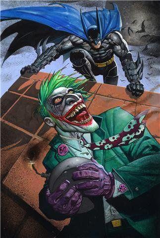 Batman Vs Joker Comic Art Superheroes Pinterest Bande