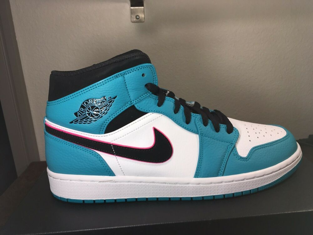low priced b635b 61fd8 NIKE AIR JORDAN 1 MID SE South Beach Turbo Green  Black  Pink 852542 306  Size13  fashion  clothing  shoes  accessories  mensshoes  athleticshoes  (ebay link)