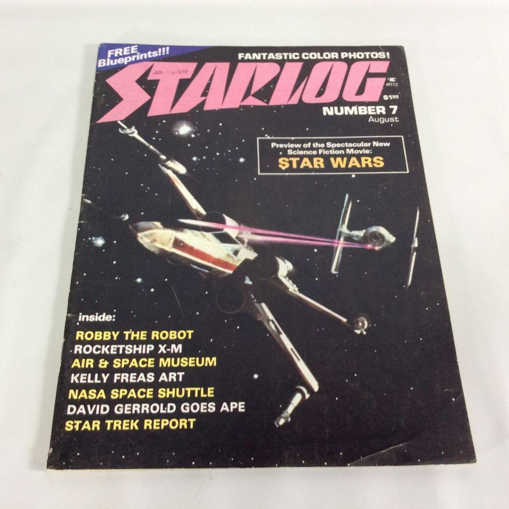 Starlog magazine number 7 august 1977 star wars preview nasa starlog magazine number 7 august 1977 star wars preview nasa blueprints eagles malvernweather Gallery