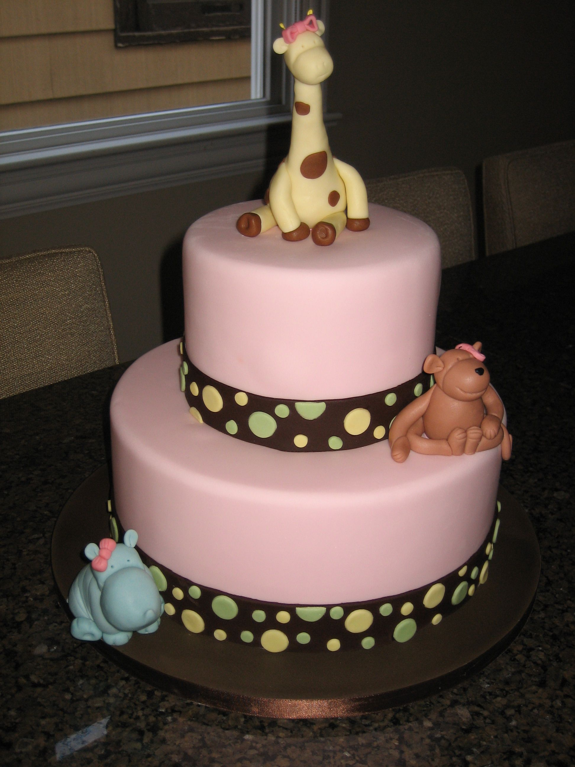 Amy Beck Cake Design Chicago Il Baby Animals Baby Shower Cake