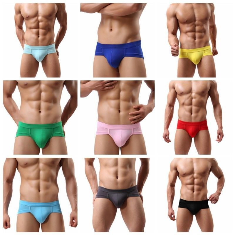 Men/'s Briefs Underwear Bulge Pouch Briefs Fashion Striped Bikini Underwear