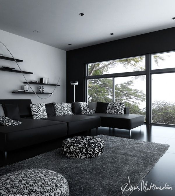 Black and white interior design ideas pictures white for Modern interior design living room white