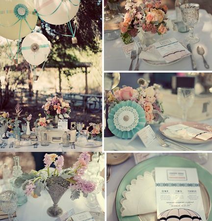 decoration table mariage shabby