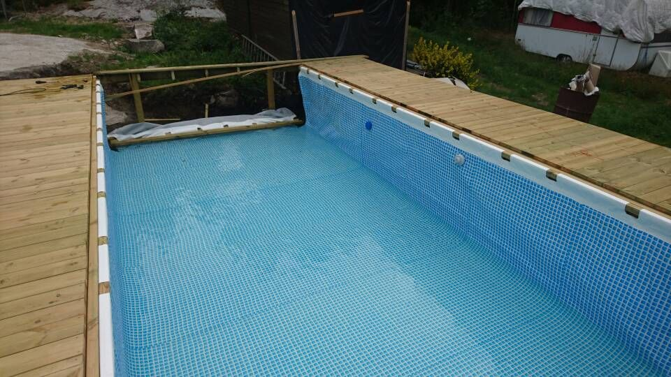 Hanging A Rectangular Intex Ultra Frame Pool Directly From The