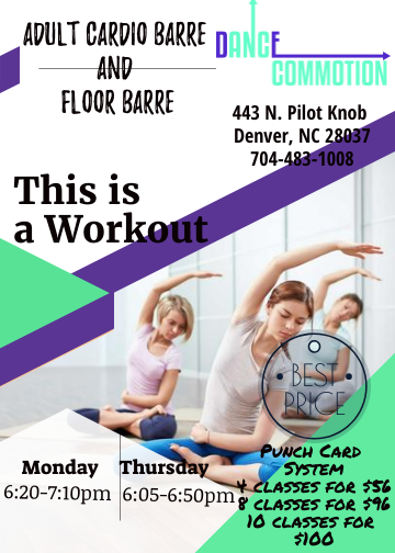 Download Flayer Adult Cardio Barre Flyer — design created in free graphics editor Crello #cardiobarre Download Flayer Adult Cardio Barre Flyer — design created in free graphics editor Crello #cardiobarre