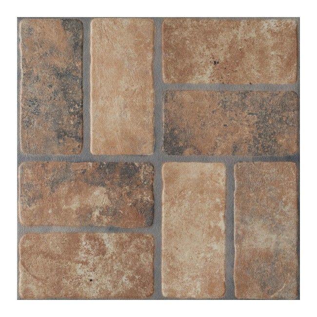 gres arte zelandia 45 x 45 cm bordowy 1,62 m2 - płytki podłogowe, Hause deko