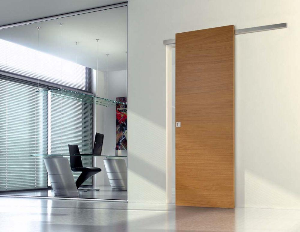 Porta scorrevole esterna su binario. Idea per la porta del bagno ...
