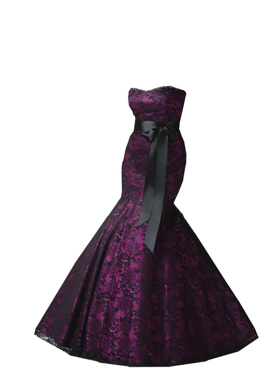 Black And Purple Gothic Wedding Dresses Black and Purple Merma...
