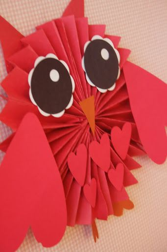 Valentines Day Party - owl paper decoration