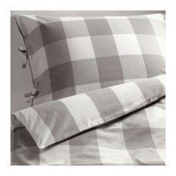 ahorrar buscar auténtico aliexpress EMMIE RUTA funda nórd y funda para almohada, blanco, gris ...