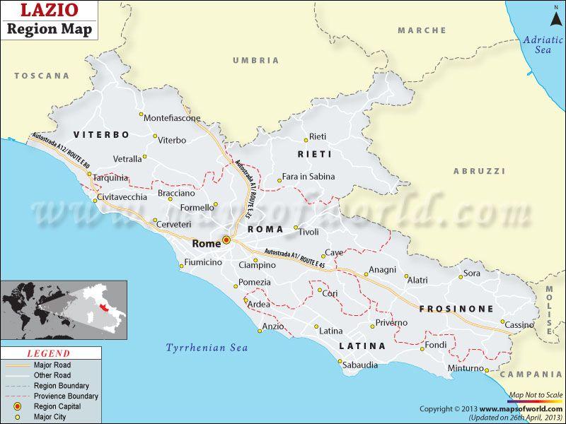 Lazio Map Veneto Italy Map Map