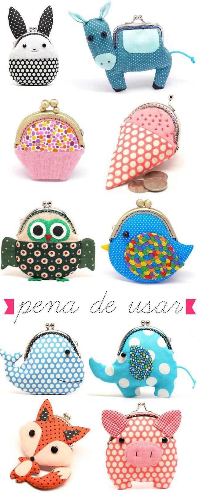 Monederos con boquilla DIY | Patrones bolsos | Pinterest | Monederos ...