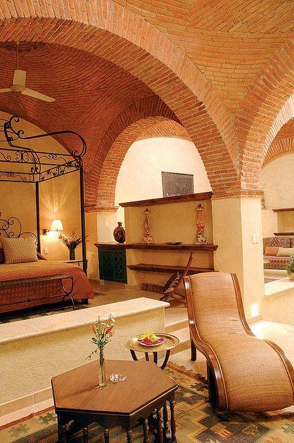 Hacienda de cort s en 2018 decoraci n colonial for Casa mexicana muebles