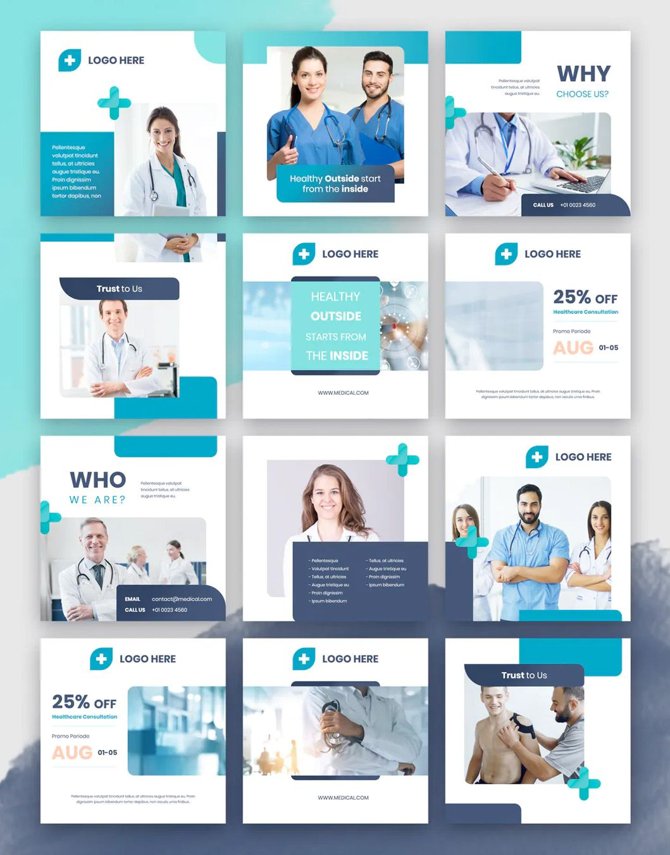 Medical Instagram Puzzle Design Medical Design Instagram Template Design Dentist Social Media