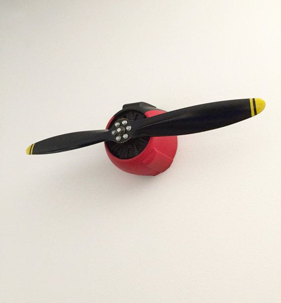 Airplane Propeller Wall Decor vintage rc airplane propeller wall art, aviation enthusiast
