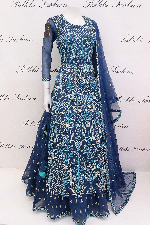 Anita dongre inspired royal blue designer lehenga set pinterest