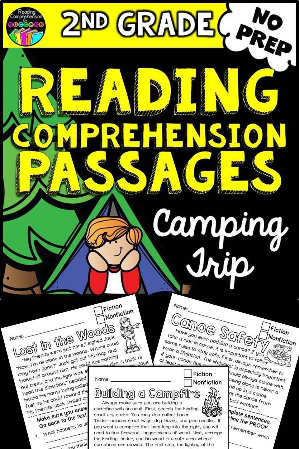 Reading Comprehension Passages Camping Trip For Second Graders 8 No Prep Reading C Reading Comprehension Passages Comprehension Passage Reading Comprehension [ 1440 x 960 Pixel ]
