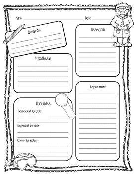 Free Scientific Method Printable Worksheet For Kids  Things We