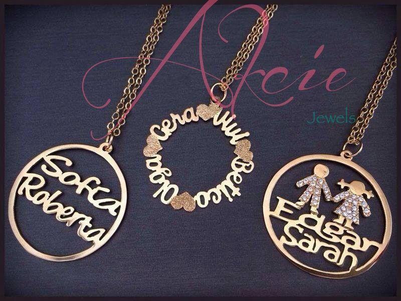 993ad1acf8f3 Dijes circulares personalizados en oro laminado o rodio Dijes Con Nombre