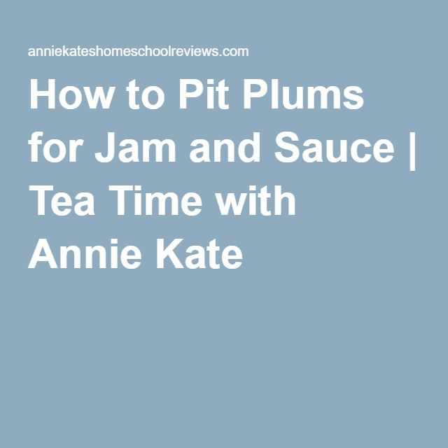 How to Pit Plums for Jam and Sauce | Tea Time with Annie Kate