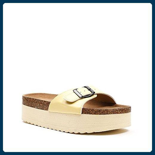 Ideal Shoes, Damen Zehentrenner , blau - blau - Größe: 38 EU