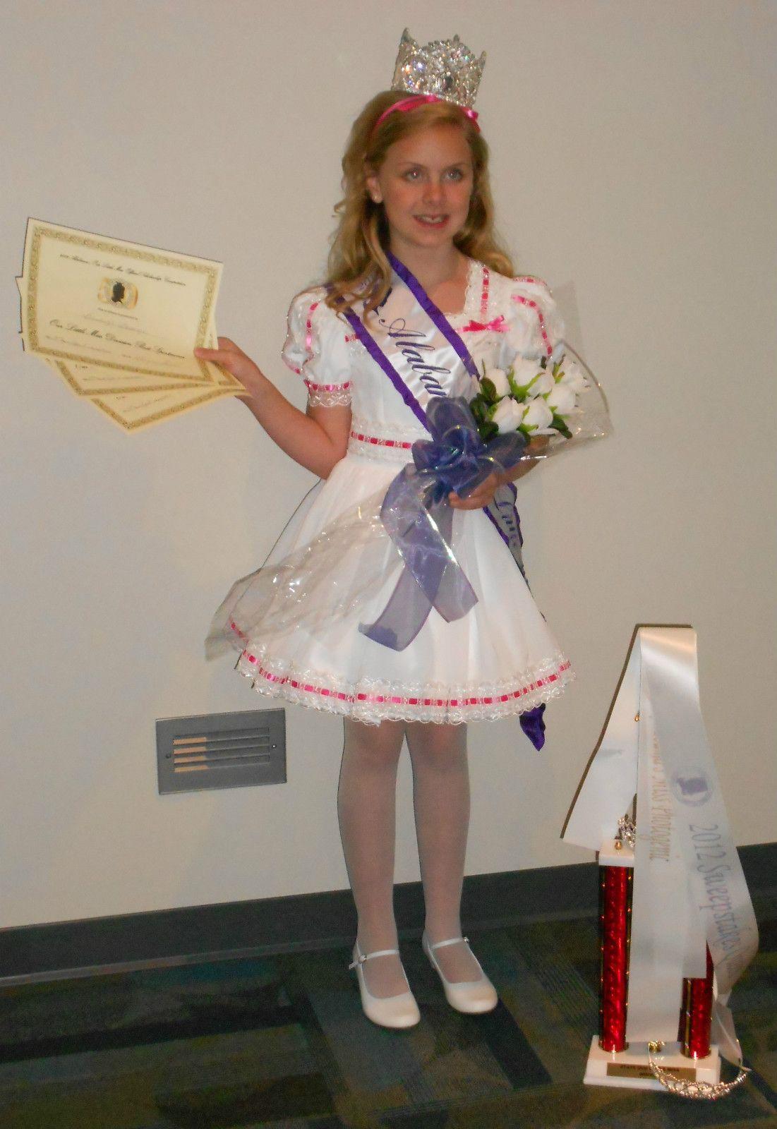 National Natural Pageant Dress Jeanne Butler 6 8 Cinderella OLM | eBay
