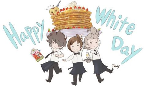 the bravely boys wishing you a happy white day!