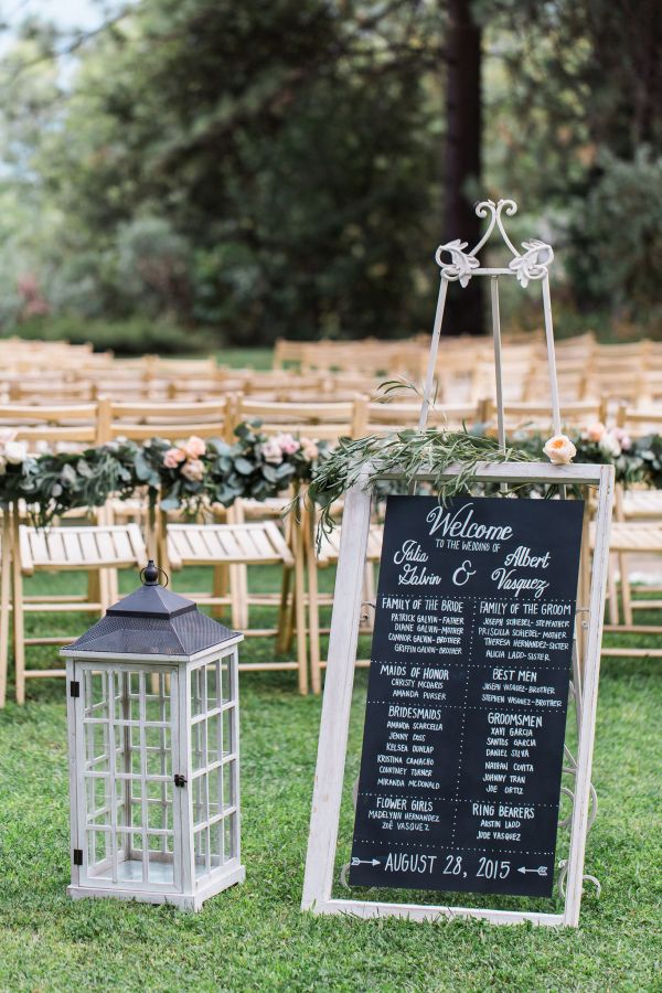 rustic chic wedding decoration chalkboard welcome sign - Rustic Garden 2015