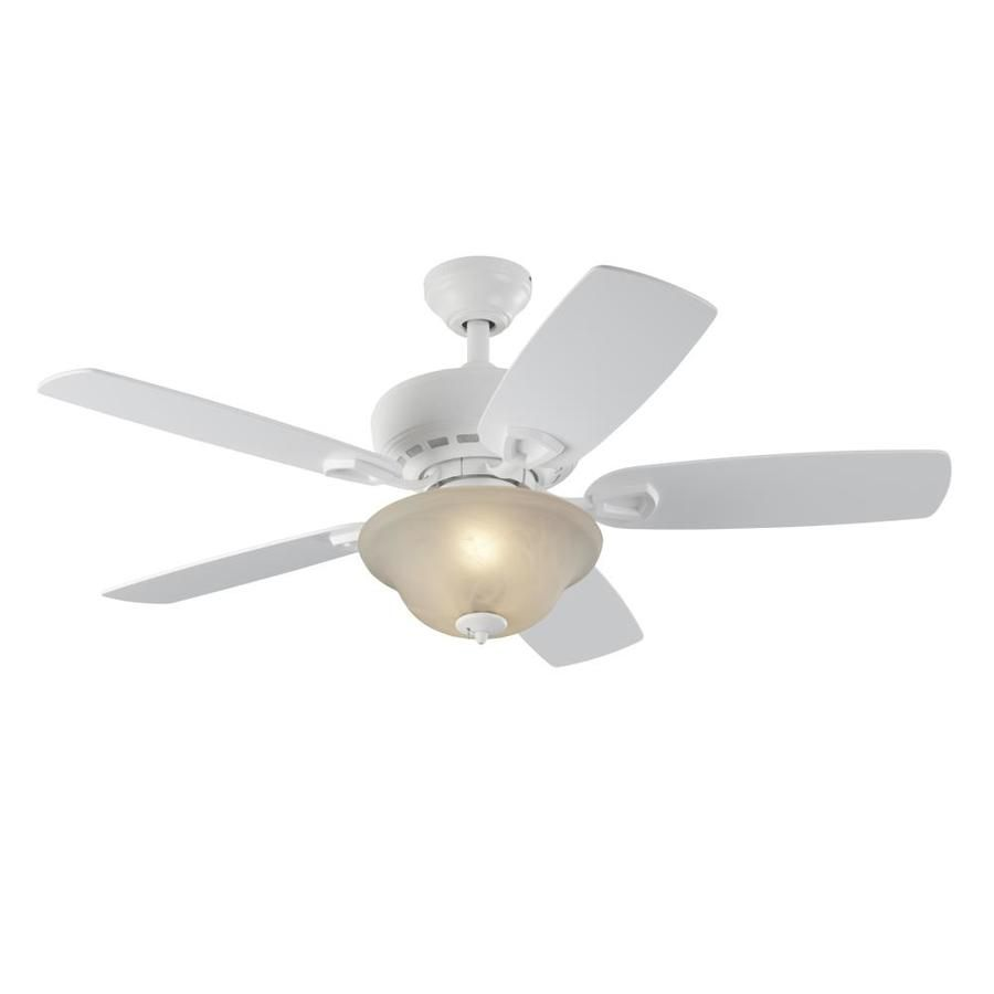 Harbor Breeze Sage Cove 44 In White Indoor Downrod Or Close Mount Ceiling Fan With Light Kit