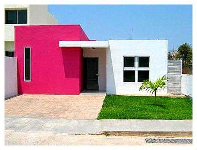 45 Fotos Y Colores Para Pintar Casa Por Fuera Mil Ideas De Decoración Fachada Casa Pequeña Fachada De Casa Colores Para Pintar Casas