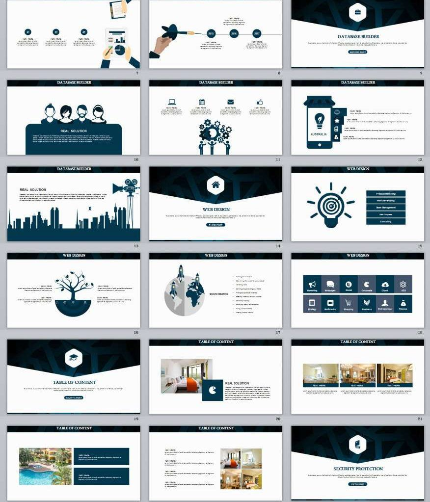 29 Blue Brand Business Powerpoint Template Business Powerpoint