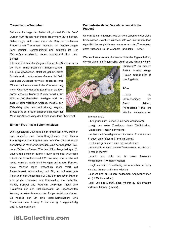 Traumman-Traumfrau | German 3 | Pinterest | Traumfrau, Lesen ...