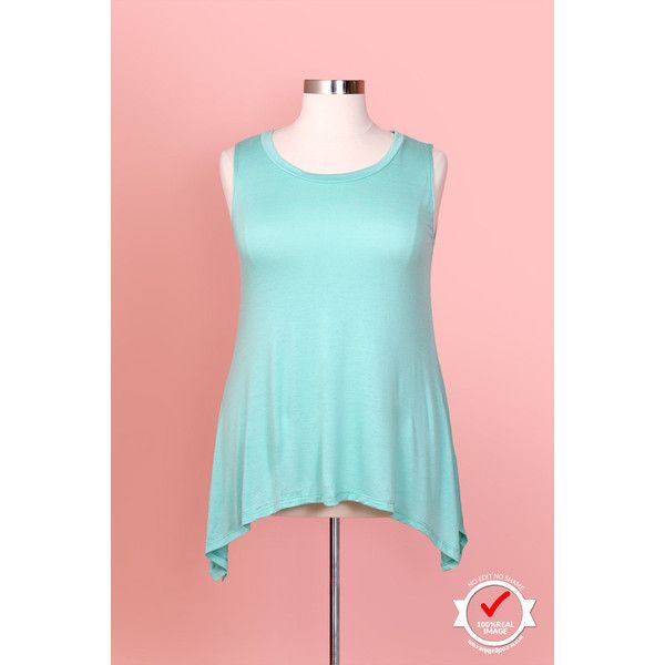 Model Radical Sleeveless Mint Flowy Top (Sizes 16 to 20) ❤ liked on Polyvore featuring tops, mint top, plus size tops, sleeveless tops, plus size mint green tops and plus size sleeveless tops