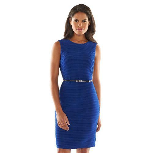 Dana Buchman Pintuck Sheath Dress - Women's