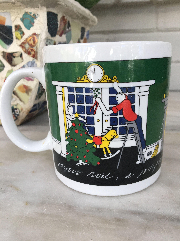 Vintage Taylor U0026 Ng Joyous Noel Mug, Jolly New Year Christmas Coffee Cup,  1980 San Francisco, Holiday Cocoa Mug