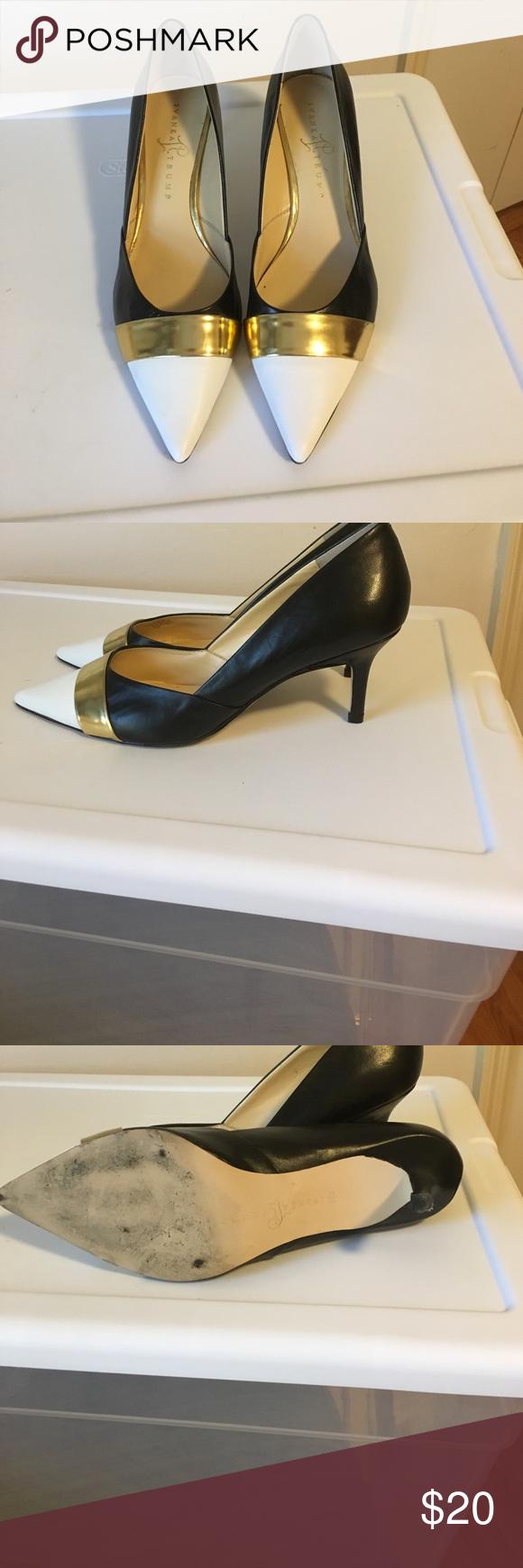 Shoes - by Ivanka Trump Ivanka Trump heels. Nice low heel. Black and white