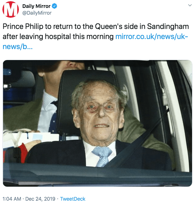 Prince Philip Is Getting Meme D After Brief Hospital Visit Prince Philip Prince Phillip Top Memes
