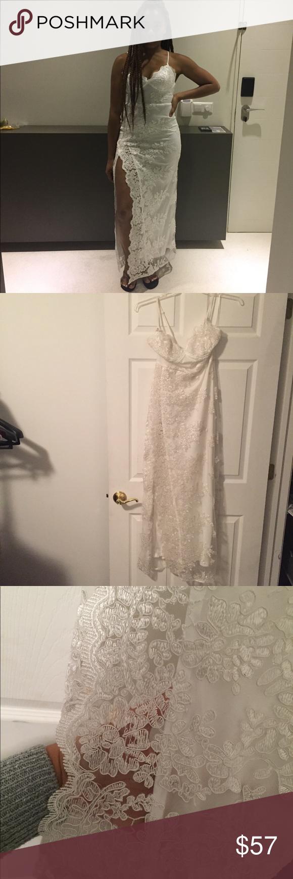 7245a8677e5 A Night In Tokyo Lace Dress - White - Medium A Night In Tokyo Lace Dress -  White - Medium Fashion Nova Dresses Maxi