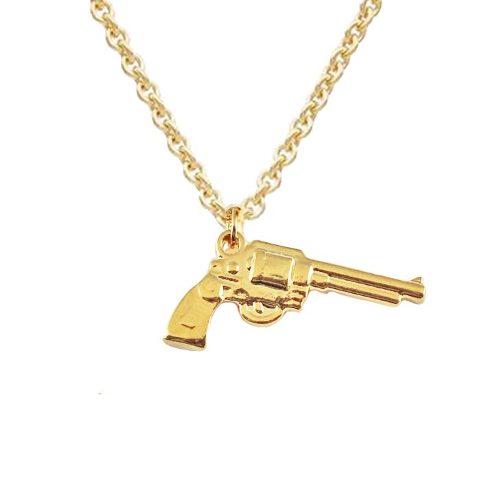 Solid Gold Pendant,Pistol Pendant,Gun Pendant,Gold Necklace,Gold Revolver,Revolver,Designer Jewelry,Handmade Jewelry,Jewelry For Gift