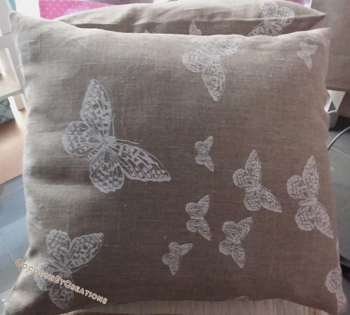 Housse de coussin Papillons